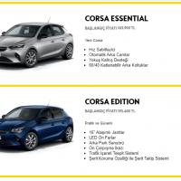 2021 Yeni Kasa Opel Corsa Fiyat Listesi   SIFIR ARAÇ FİYATLARI